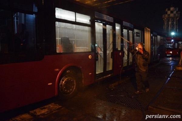 ضدعفونی کردن اتوبوس ها