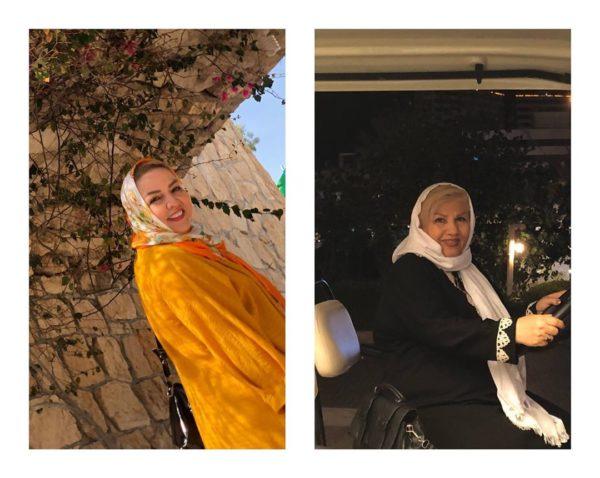 عکس از مادر و مادر شوهر نرگس محمدی