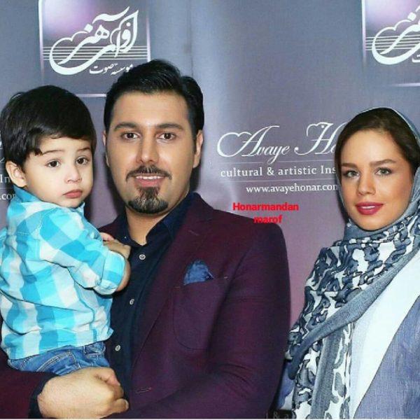 احسان خواجه امیری و همسرش لیلا ربانی و پسرش آرشام