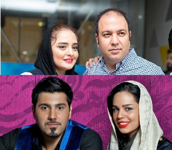 تصاویر جالب از موتور سواری علی اوجی و احسان خواجه امیری به همراه همسراشون
