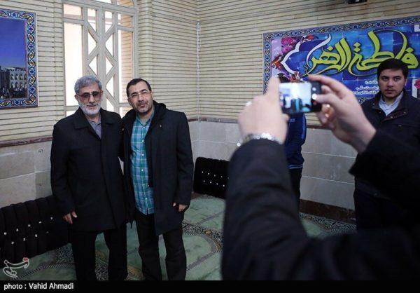 عکس سردار قاآنی پای صندوق رای