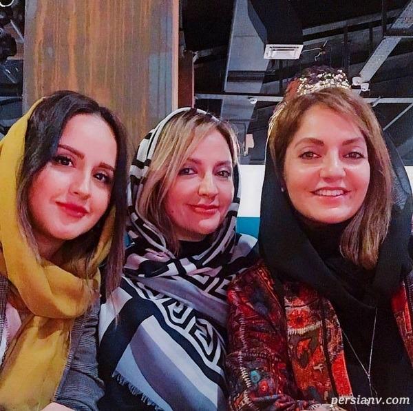 مهناز افشار و خواهر و خواهرزاده اش
