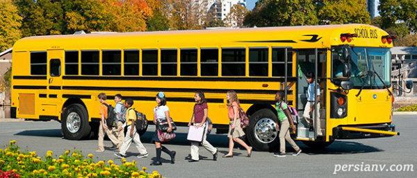 تصادف اتوبوس مدرسه