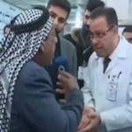 مرد معترض به کمبود دارو در عراق در مقابل دوربین تلویزیون فوت کرد