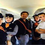 گرفتار شدن بازیگران در هواپیما به علت یخبندان