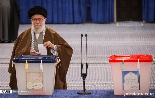 همه پای صندوق های رای ؛ از حضور خانوادگی جهرمی تا دختر و داماد رئیس جمهور