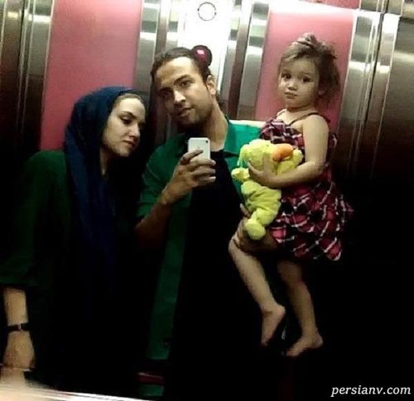 بنیامین بهادری و همسر اولش نسیم و دخترش بارانا