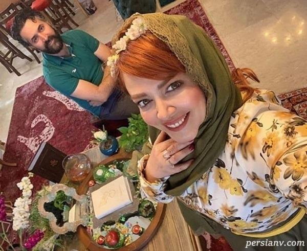 بهاره رهنما در کنار همسر و دختر همسرش