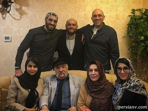 عکس خانوادگی در کنار داریوش ارجمند