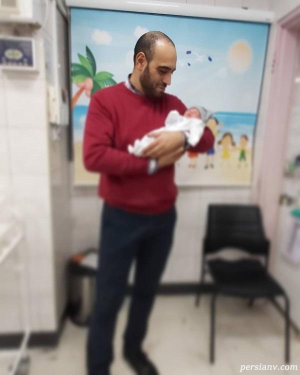 بچه یاسمینا باهر و امیریل ارجمند