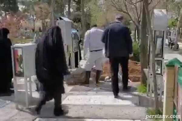 مراسم تدفین مادر عروس رهبر انقلاب و همسر حاج آقا لولاچیان