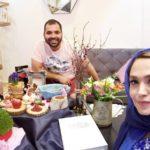 فریبا باقری و همسرش در روزهای پایانی سال در عطاری