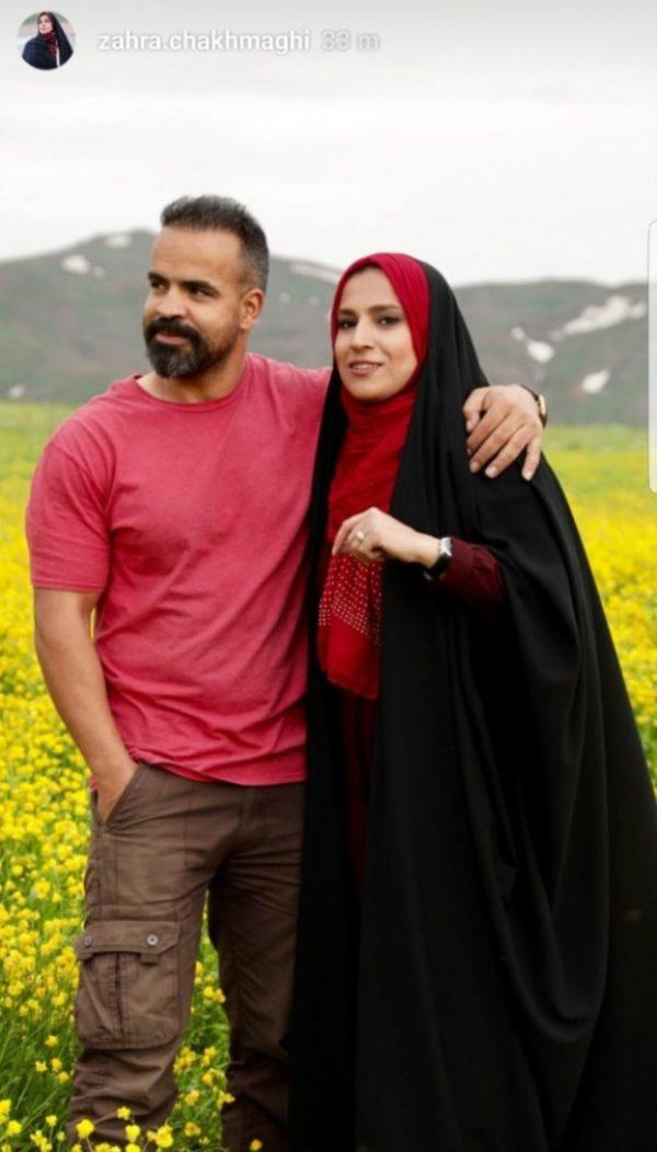 زهرا چخماقی و همسرش