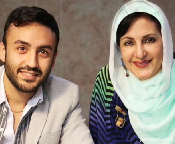 فاطمه گودرزی بازیگر به همراه دختر و پسر و عروسش