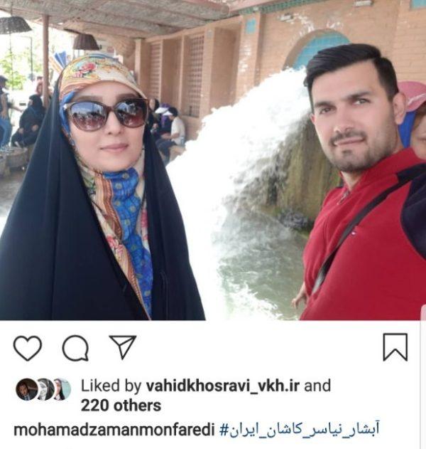 مژده خنجری و همسر
