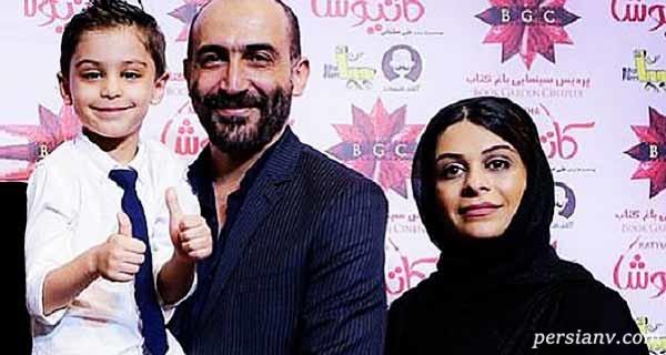 هادی حجازی فر و همسرش