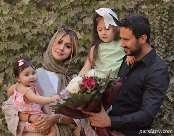همسر شاهرخ استخری و دخترانش
