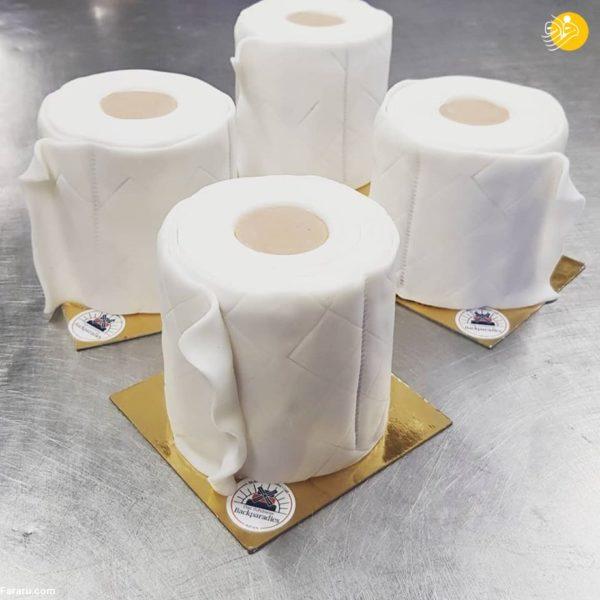 کیک دستمال کاغذی