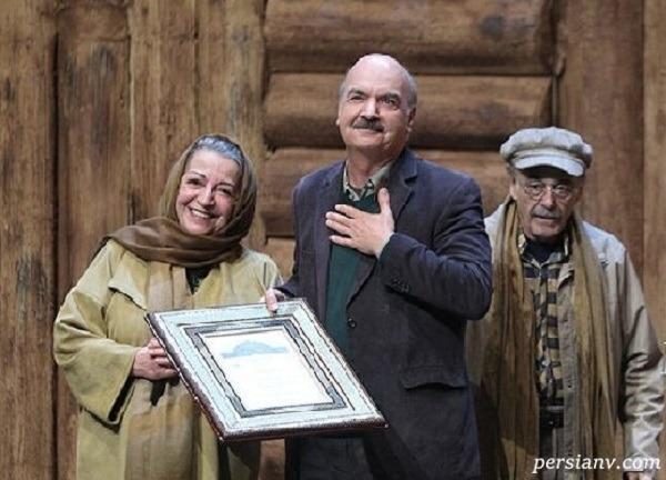 جشن تولد ایرج طهماسب در کنار همسر و دخترانش و فاطمه معتمد آریا