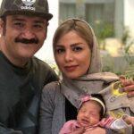 ماشین سواری مهران غفوریان و هانا دخترش