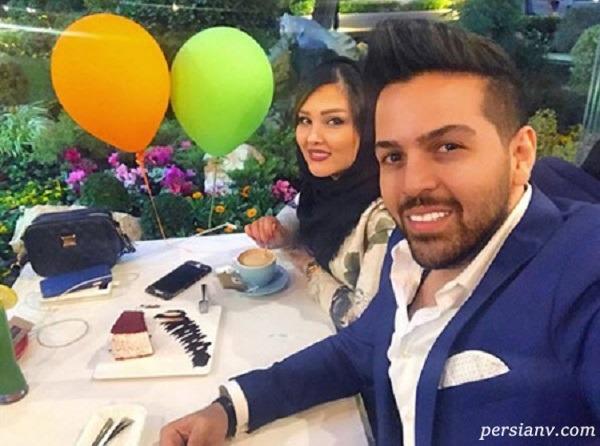 عماد طالب زاده خواننده پاپ در کنار همسر و فرزنداش