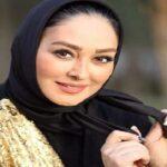ژست بارداری الهام حمیدی بازیگر زن در یک فروشگاه سیسمونی