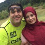 تصویر و متن عاشقانه مانی رهنما و همسرش صبا راد