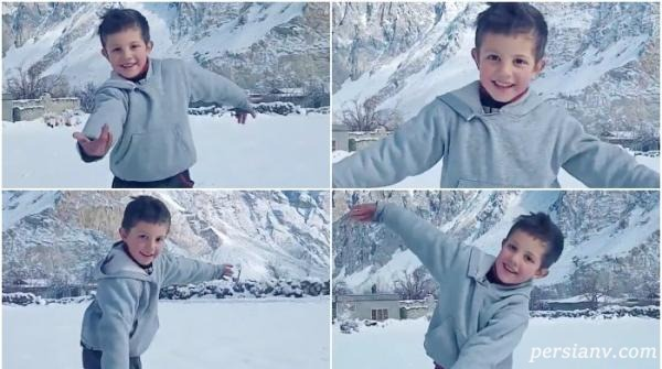 رقص زیبای پسر در برف بیش از یک میلیون بازدید داشت