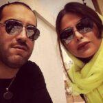 امیریل ارجمند و همسرش یاسمینا باهر در حرم امام رضا (ع)