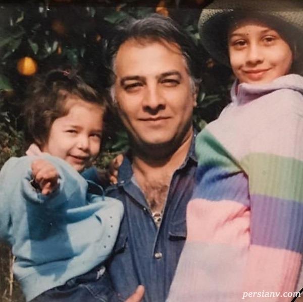 بازیگر مرد و دخترانش در کودکی