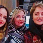 تبریک تولد مادر و برادر و خواهر مهناز افشار با ارسال ویدیو برای ایشان