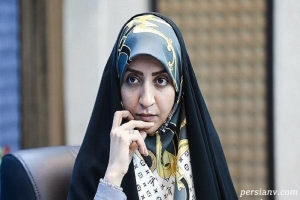 فضه سادات حسینی مجری و گوینده خبر در گلزار شهدا تهران