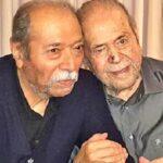 علی نصیریان در منزل مرحوم محمدعلی کشاورز با رعایت اصول کرونا