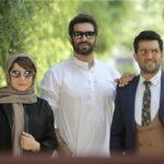 صحنه های فیلمبرداری حامد بهداد و مهراوه شریفی نیا در آتلیه عکاسی