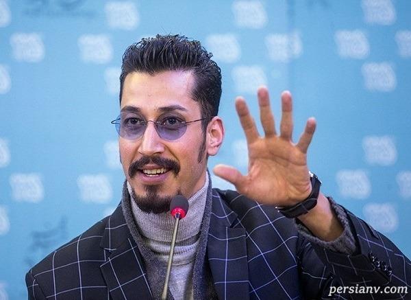بهرام افشاری بازیگر سریال دل در کنار پدر مرحومش