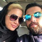 موتورسواری محسن افشانی و همسرش سویل در یک روز گرم و گیرا