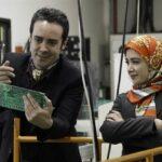 مهشید جوادی و کاوه سماک باشی در پشت صحنه سریال بچه مهندس ۳