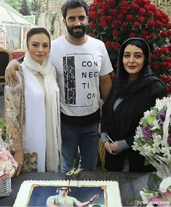 یکتا ناصر و همسر   تصویری از منوچهرهادی و همسرش در کنار ساره بیات