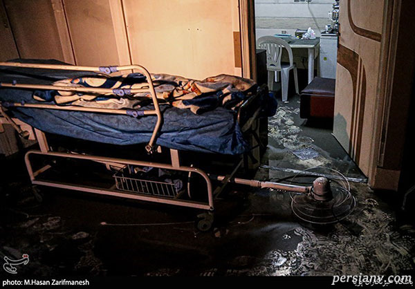 آتش سوزی در کلینیک سینا