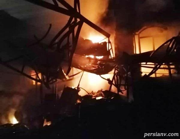 تصاویر جدید از آتش سوزی درمانگاه سینا تهران