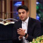 عکس علی ضیا مجری خوش سیما و موفق تلویزیون با خواهر زاده اش