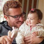 تصویر پدر دختری محسن کیایی بازیگر سریال هم گناه