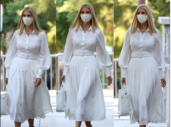 لباس سفید دختر ترامپ