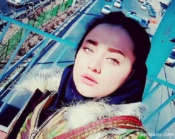 طبیعت گردی مهتاب جامی بازیگر بچه مهندس با حیوان خانگی اش