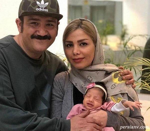 همسر و فرزند مهران غفوریان