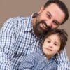 عکس جدید برزو ارجمند در کنار پسرش جانیار با ماسک