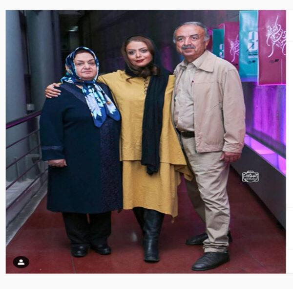 شبنم فرشادجو در کنار پدر و مادرش