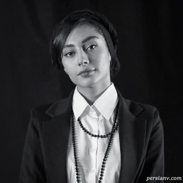 عکس سیاه و سفید بازیگر زن