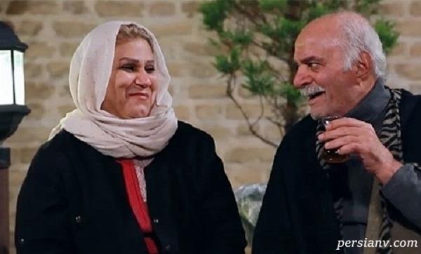 همسر و فرزند سیروس گرجستانی مرحوم در مراسم خاکسپاری اش