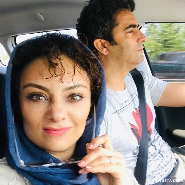 یکتا ناصر کنار همسرش